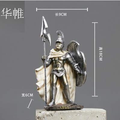 (DAVITU Medieval Vintage Resin Sculpture/Statue,Knights,Warrior,Soldier,Treasure Box,Goddess of Justice,Venus Goddess,God, Crafts. - (Color: O))