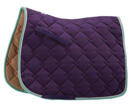 Purple Silver Mint Roma Ecole Double Diamond Dressage Saddle Pad