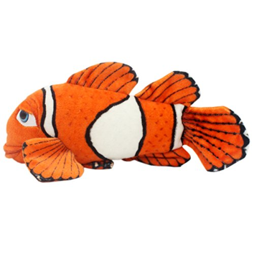 Jesonn Realistic Stuffed Clown Fish Toys Plush Marine Animals for Baby and Kids' Gifts,15.8 Inches or 40CM,1PC