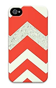 iPhone 4 4S Case Chevron Red 3D Custom iPhone 4 4S Case Cover