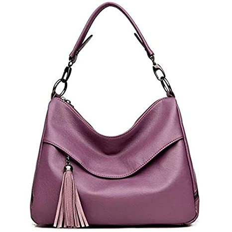 Image Unavailable. Image not available for. Color  Hot PU Leather Ladies  Handbags Fashion Tassel Women Shoulder Bag Female ... d37653232259f