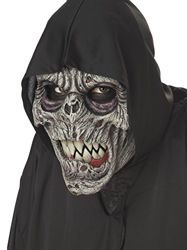 Night Fiend Mask (UHC Men's Night Fiend Animotion Scary Demon Latex Halloween Costume Mask)
