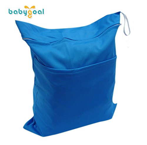 Babygoal Baby Waterproof Washable Reusable Wet and Dry Cloth Diaper Bag