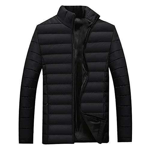 ZEVONDA Abrigo de Chaqueta para Hombre - Slim Fit Otoño Invierno Ropa de Abrigo Ligera