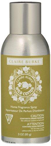 Claire Burke Wild Cotton Spray Kitchen Décor Fragrance/Home Scent, Small, Off Off White (Burke Decor)