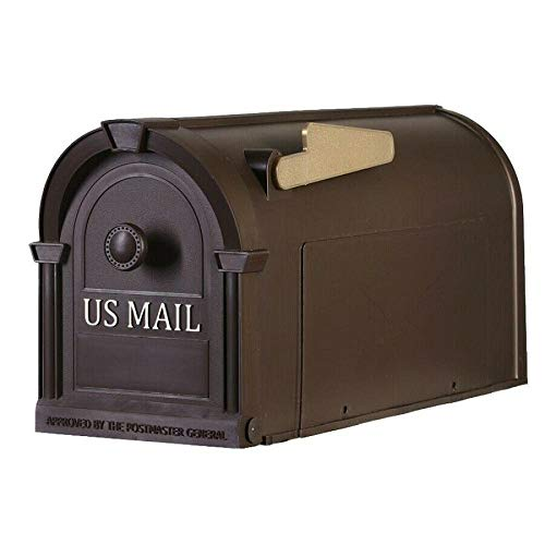 Top_Quality555 Postal Pro Post Mount Hampton Bronze Mailbox Durable Large Non Rust Décor