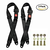 2 Pack Seat Safety Belt, Lap Durable Polyester