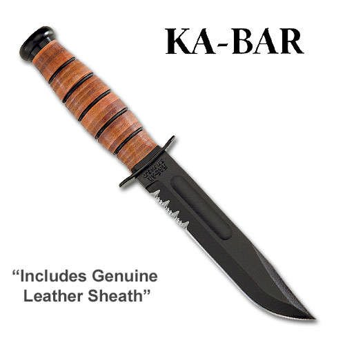 KA-BAR US Army Fighting/Utility Knife Serrated Edge