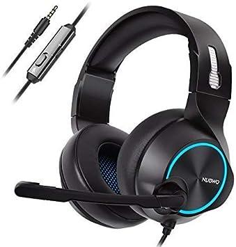 NUBWO PS4 - Auriculares de Diadema para Xbox One con micrófono de ...