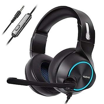 NUBWO PS4 Xbox One Headset Stereo Wired Game Headset mit Rauschunterdrückung Mikrofon, Over-Ear-Kopfhörer mit Lautstärke- und