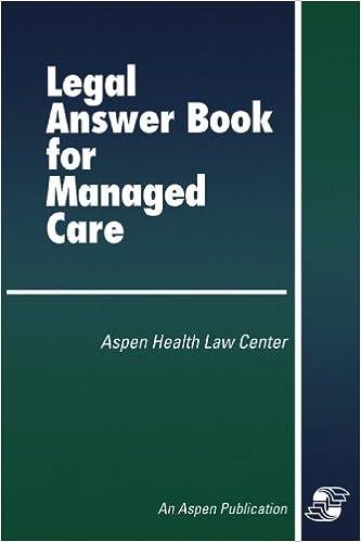 Download ebook più venduti Legal Answer Book for Managed Care PDF 0834207001 by Aspen
