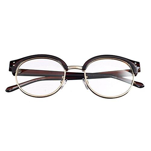 Bi Tao Black frame Nearsighted Shortsighted Myopia Glasses -0.75 Strengths Men Women Fashion Half Frame Nearsighted Eyeglasses