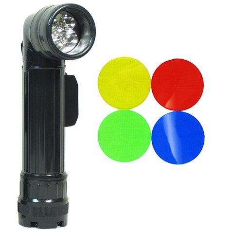 Mil-Tec Large LED Anglehead Flashlight (Black)