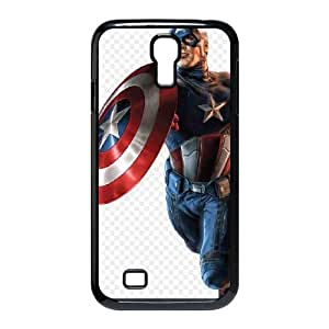 Captain America SamSung Galaxy S4 I9500 Phone Case Black white Gift Holiday Gifts Souvenir Halloween Gift Christmas Gifts TIGER156019