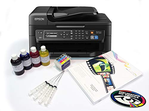 Dye Sublimation A4 Printer Bundle – Epson Workforce WF2630 inc. Inktec Sublinova Inks & ICC Profile