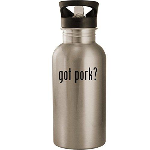 got pork? - Stainless Steel 20oz Road Ready Water Bottle, Silver