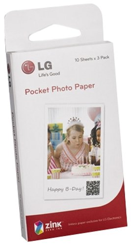 LG Electronics PS2203 - Recambios Papel para Pocket Photo (5 x 7.6 cm)