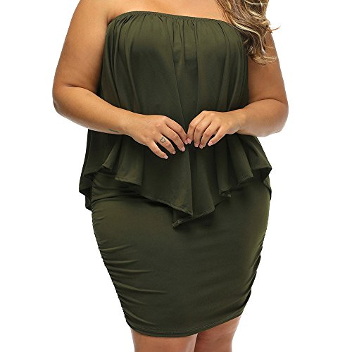 Bodycon 4 Tulle Sleeve Sexy 2 Sheer Women's green Mesh 3 Size Dress MuCoo Plus Party wqxfg41vwp