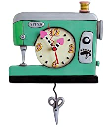 Allen Designs Stitch Sewing Machine Clock