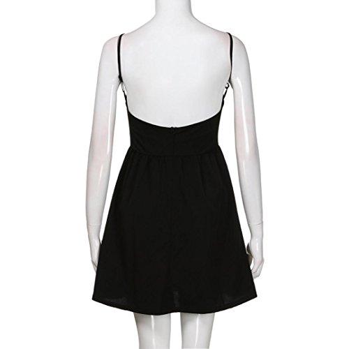 Da Donna Abito Sexy Dress Rcool Senza Nero Vestito Maniche Halter Elegante wz7xOxEInZ