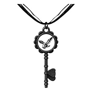 Chicforest Bronze Retro Style Flying Mighty Eagle Key to Her Heart Pendant