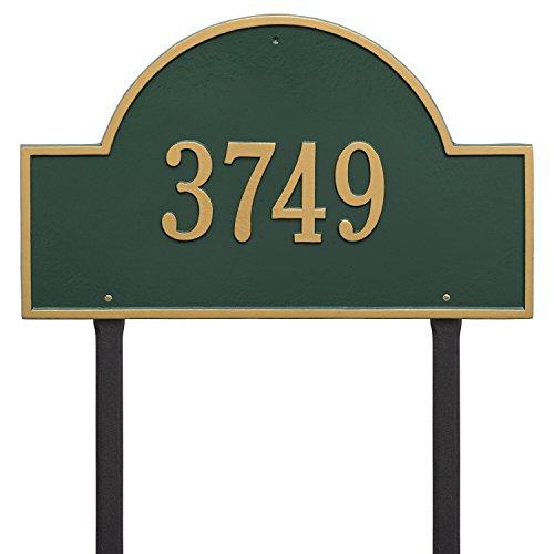 Arch Marker Estate Address Plaques - Whitehall Products Arch Marker Estate Bronze/Gold Lawn 1-Line Address Plaque