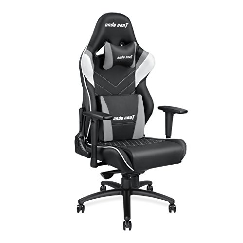 ([Large Size Big and Tall 400lb Gaming Racing Chair] Andaseat Swivel Rocker Tilt E-Sports Chair High Back Ergonomic Computer Chair with Adjustable Padded Headrest and Lumbar Support)