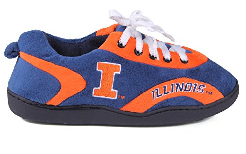 Illinois Feet Happy NCAA Around All Mens and College Womens Slippers Illini 6ddApBqwnz