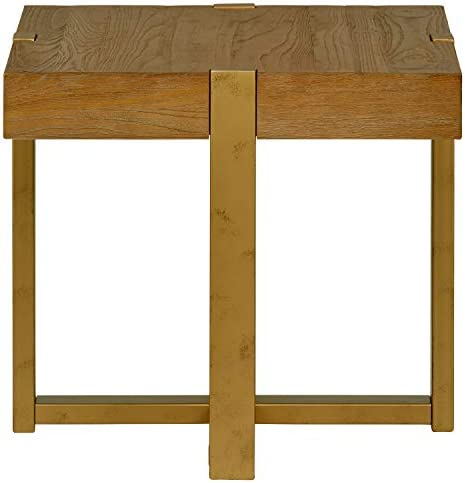 Amazon Brand Stone Beam Ryder Industrial Square End Table