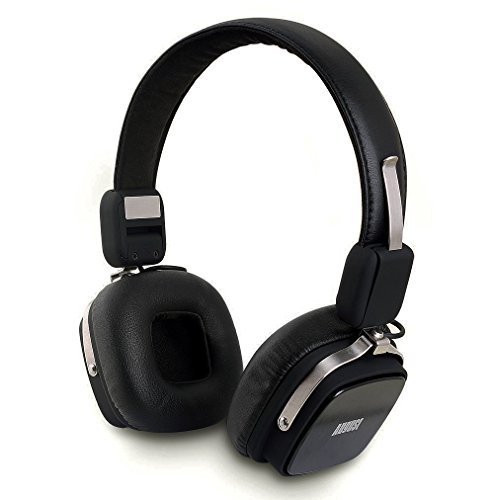 August EP634 - Bluetooth Wireless Stereo Headphones - On Ear Cordless Headphones with 3.5mm Audio In, Rechargeable Battery and Built-in Microphone - (Android / PS3 / iOS / Windows Compatible) (Black)
