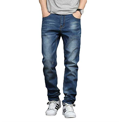 Denim Slim Jeans Dritta Uomo Il Battercake Lunghi Comodo Per Lichtblau Tempo Libero Fit Capispalla Elasticizzati Gamba HCEax