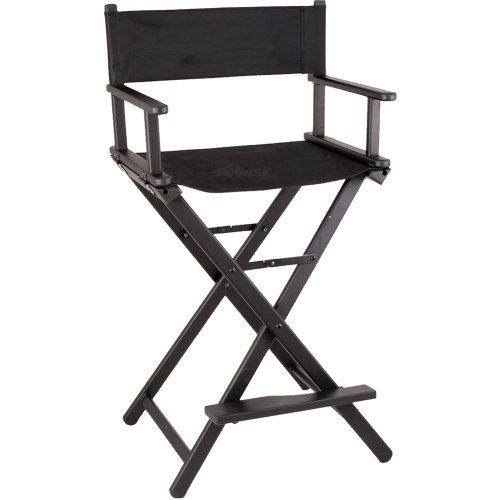 Sunrise Lightweight Aluminum Tall Portable Director Makeup Artist Chair, Black from SunRise