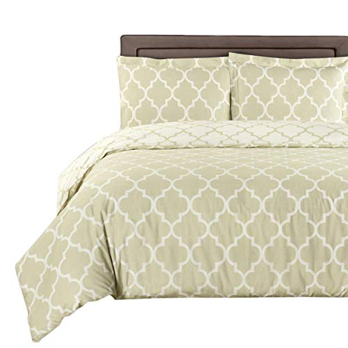 Beige-Linen and Ivory Meridian 8-piece Full Bed-in-a-Bag 100 % Cotton 300 Thread Count by Royal Hotel