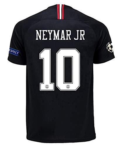 6560dcd01958 Goldenhetai 10  Neymar JR PSG X 2018-2019 Season New Away Mens Soccer Jersey    Armbands Size L
