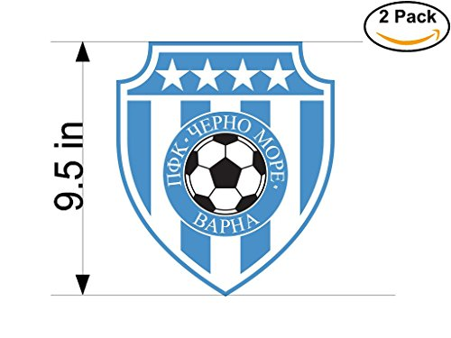 fan products of PFC Cherno More Varna Bulgaria Soccer Football Club FC 2 Stickers Car Bumper Window Sticker Decal Huge 9.5 inches