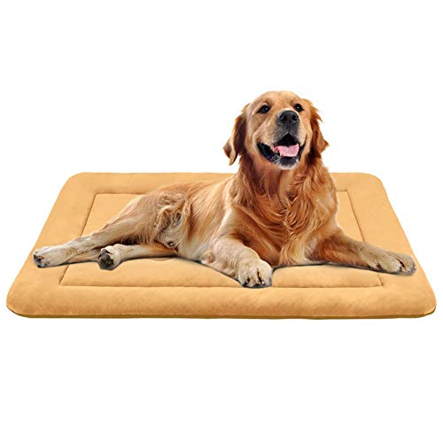 JoicyCo Dog Bed Large Crate Mat 42 in Anti-Slip Washable Soft Mattress Kennel Pads ()