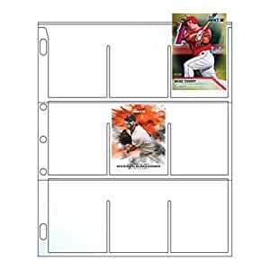 EnvyPak Platinum Series 9 Pocket Trading Card Page Protectors - 5 Hole Punched - 100 Per Pack - Made in The USA