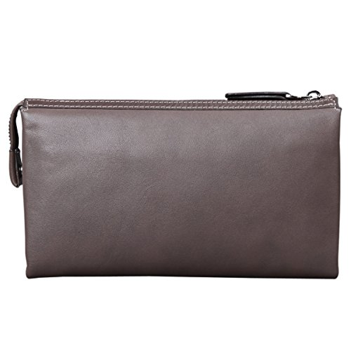 Bourse Affaires Mode Casual Hommes Sac D'embrayage En Brown Cuir Embrayage TBqZ6w