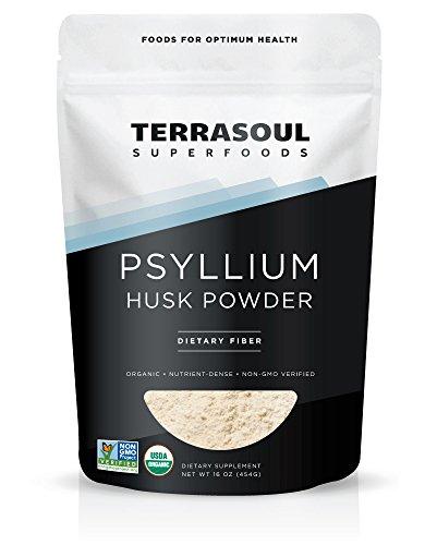Terrasoul Superfoods Organic Psyllium Husk Powder, 1 Pound