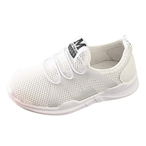 CCFAMILY Children Infant Kids Baby Girls Boys Letter Mesh Sport Run Sneakers Casual Shoes White