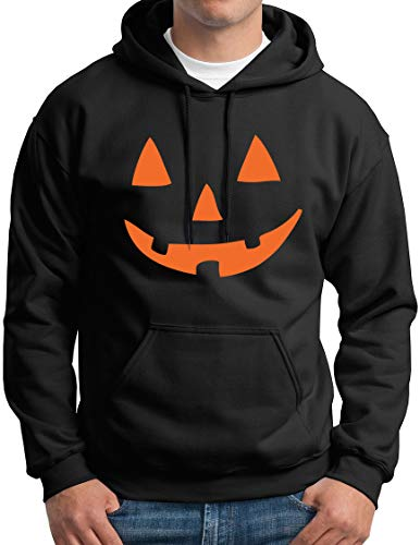 Unicef Halloween Costume (Jack O Lantern Smiling Pumpkin Face Hoodie Black)