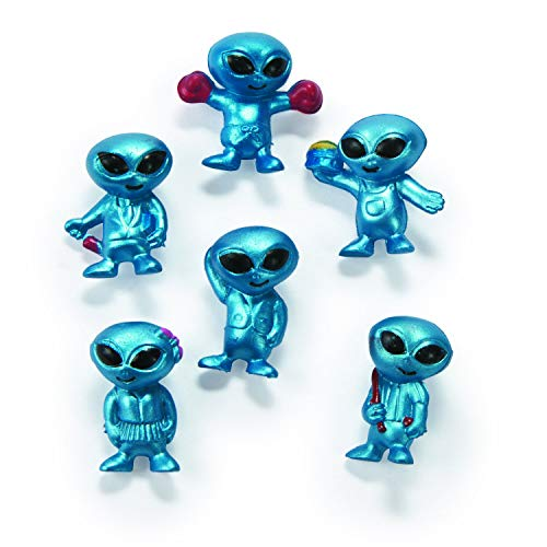Fun Express Vinyl Aliens (48 Pieces) Character Toys, Vinyl Characters, Classroom Manipulatives, Counters or Incentives