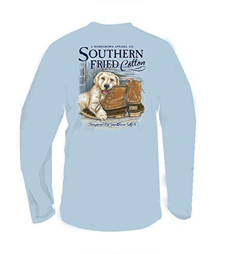 Southern Fried Cotton Dogs Favorite Chew Toy Adult Long Sleeve T-Shirt-Southern Sky-XXL