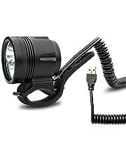 USB Fiets- en helmlamp met 950 lumen | 4 verlichtingsmodi | kan met alle 5 V powerbanken met een output van 2 A worden gebruikt