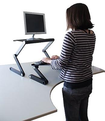 Workez Standing Desk Conversion Kit - Adjustable Sit to Stand Desk for Laptops & Desktops