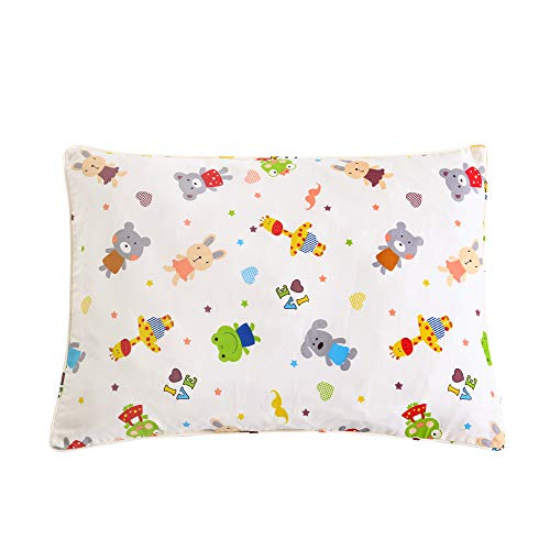 - Tim & Tina Kids Toddler Travel Pillow Cover 100% Natural Cotton Pillowcase Soft Breathable Printings with Zipper 14x19 with Zipper (Animals Party, Toddler)