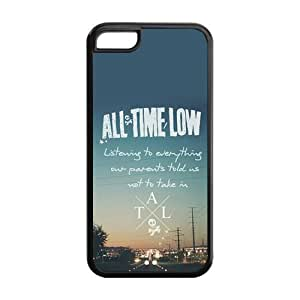 All Time Low Theme iphone 5c Case (TPU Material) White/Black iphone 5c Accessories Cover
