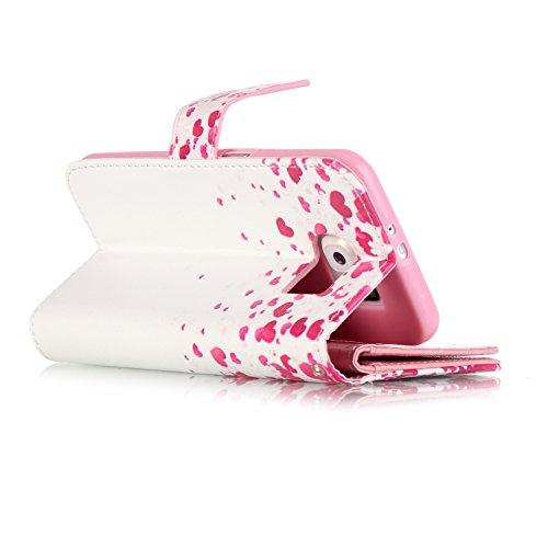 Sunroyal ® para Samsung Galaxy S6 G9200 G920F Funda Ultra Slim PU Cuero Flip Caso Leather Case Wallet Card Cubierta Caja Protectora Soporte [Billetera con Tapa para Tarjetas] Carcasa con Stand Función Color03
