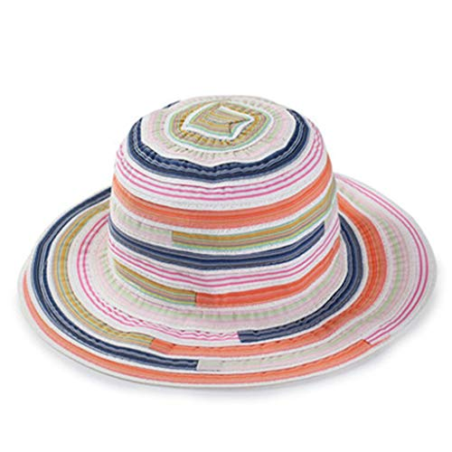 Striped Green Packers Tie Bay - Yucode Women Adult Striped Print Foldable Fisherman Hat Sunscreen Outdoors Cap Pink