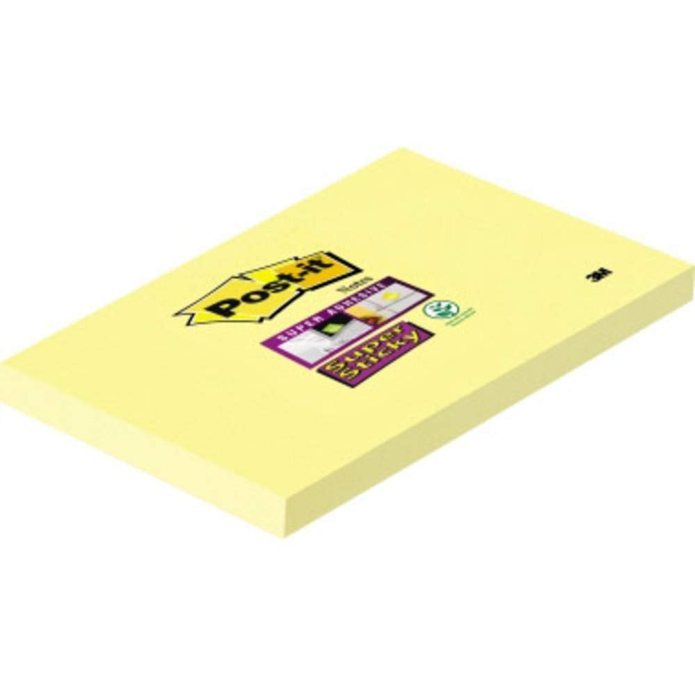Post-it 81370 Super Sticky Blocchetto con 90 fogli Giallo Canary 76 x 127 mm